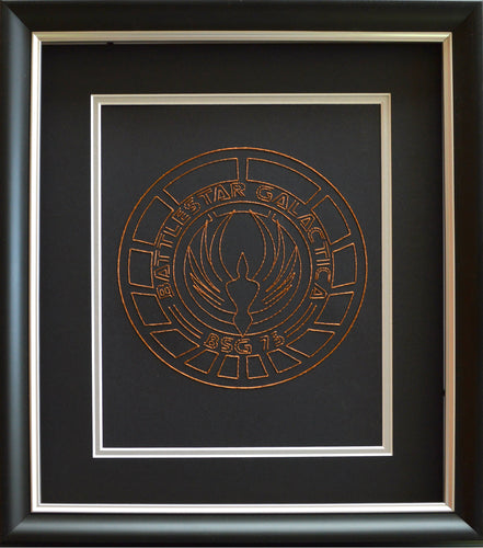 Battlestar Galactica BSG75 Inspired Hand-Stitched Artwork (Copper Thread)