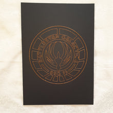 Load image into Gallery viewer, Battlestar Galactica BSG75 Inspired Card Embroidery Kit