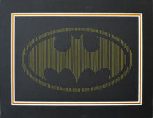 Load image into Gallery viewer, Batman Inspired Card Embroidery Kit (Black Card)