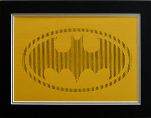 Batman Inspired Hand-Stitched Artwork (Yellow Card)