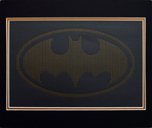 Load image into Gallery viewer, Batman Inspired Hand-Stitched Artwork (Charcoal Card)