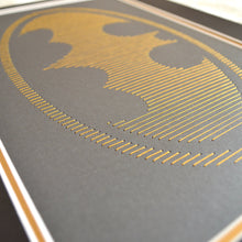 Load image into Gallery viewer, Batman Inspired Hand-Stitched Artwork (Black Card)