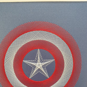 Capt America Inspired Card Embroidery Kit (Blue Card)