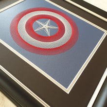 Load image into Gallery viewer, Capt America Inspired Card Embroidery Kit (Blue Card)