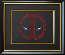 Load image into Gallery viewer, Deadpool Inspired Card Embroidery Kit (Black Card)