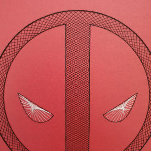 Deadpool Inspired Card Embroidery Kit (Red Card)