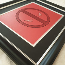 Load image into Gallery viewer, Deadpool Inspired Card Embroidery Kit (Red Card)