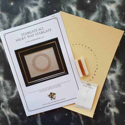SGA Stargate Atlantis Inspired Card Embroidery Kit (Cream Card)