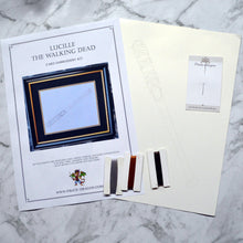 Load image into Gallery viewer, Lucille (The Walking Dead) Inspired Card Embroidery Kit (Cream Card)