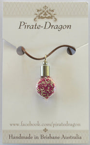 Glass Droplet Pendant - choose your own colour/s