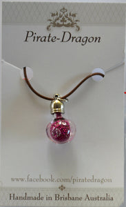 Glass Pig Pendant - Dark Pink (PG262)