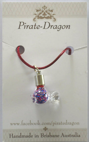 Glass Fish Pendant (Style 2) - choose your own colour/s