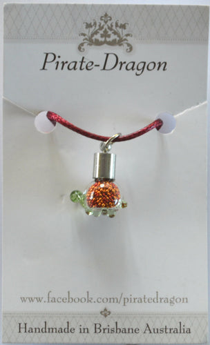 Glass Turtle Pendant - choose your own colour/s