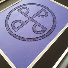 Load image into Gallery viewer, The Phantom - The Good Mark - Inspired Card Embroidery Kit (Purple Card)