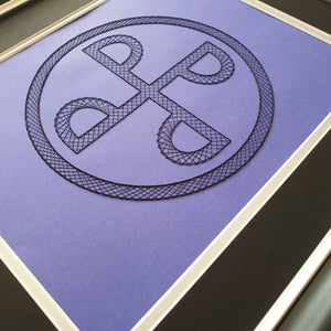 The Phantom - The Good Mark - Inspired Card Embroidery Kit (Purple Card)