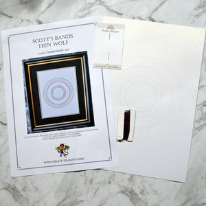 Scott's Bands (Teen Wolf) Card Embroidery Kit (White Card)
