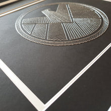 Load image into Gallery viewer, Agents of S.H.I.E.L.D.  Inspired Card Embroidery Kit (Black Card)