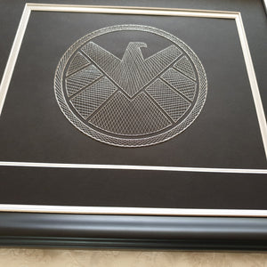 Agents of S.H.I.E.L.D.  Inspired Card Embroidery Kit (Black Card)