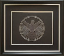 Load image into Gallery viewer, Agents of S.H.I.E.L.D. Inspired Hand-Stitched Artwork (Black Card)
