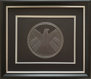 Agents of S.H.I.E.L.D. Inspired Hand-Stitched Artwork (Black Card)