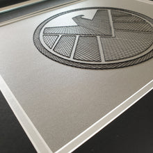 Load image into Gallery viewer, Agents of S.H.I.E.L.D.  Inspired Card Embroidery Kit (Silver Card)