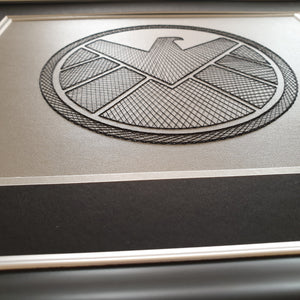 Agents of S.H.I.E.L.D.  Inspired Card Embroidery Kit (Silver Card)