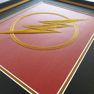 The Flash Inspired Card Embroidery Kit (Red Card)