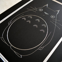 Load image into Gallery viewer, My Neighbour Totoro Inspired Card Embroidery Kit (Black Card)