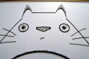 My Neighbour Totoro Inspired Card Embroidery Kit (White Card)