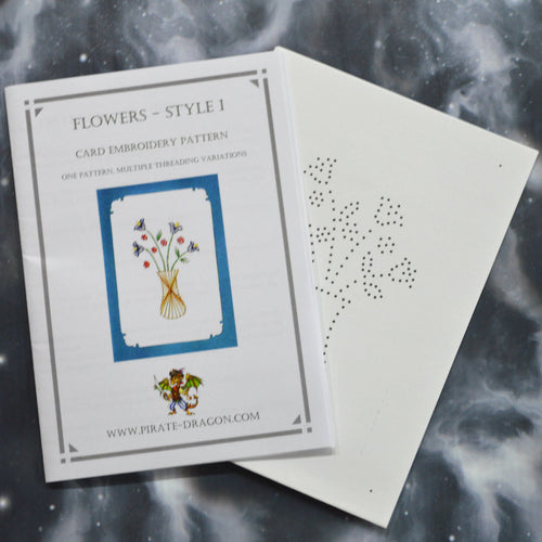 Flowers - Style 1 - Gift Card Embroidery Pattern