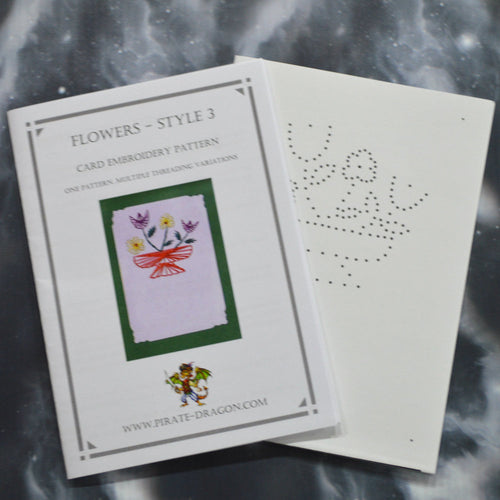 Flowers - Style 3 - Gift Card Embroidery Pattern