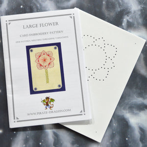 Large Flower - Gift Card Embroidery Pattern