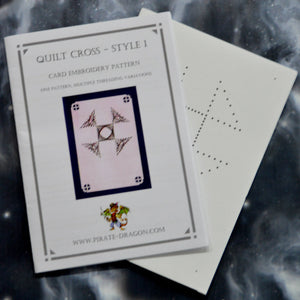 Quilt Cross - Style 1 - Gift Card Embroidery Pattern