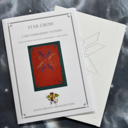 Star Cross - Gift Card Embroidery Pattern