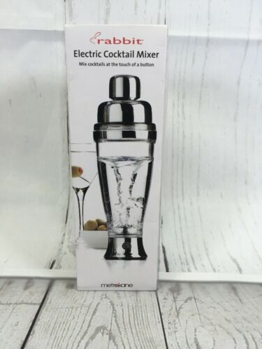 Metrokane Rabbit Electric Cocktail Mixer Model 4520 Chrome 6500 RPM - The Denim House
