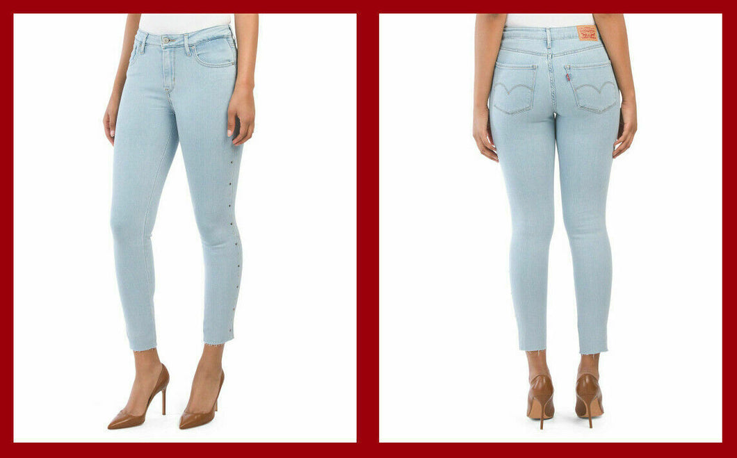 Levi's 721 High Rise Skinny w Studs - The Denim House