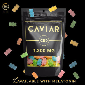 caviar gummy bear 1200mg with melatonin