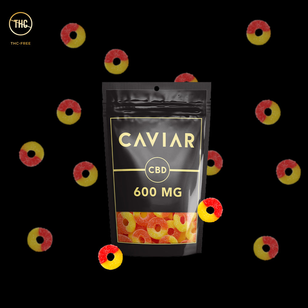 caviar peach rings cbd gummies 600mg