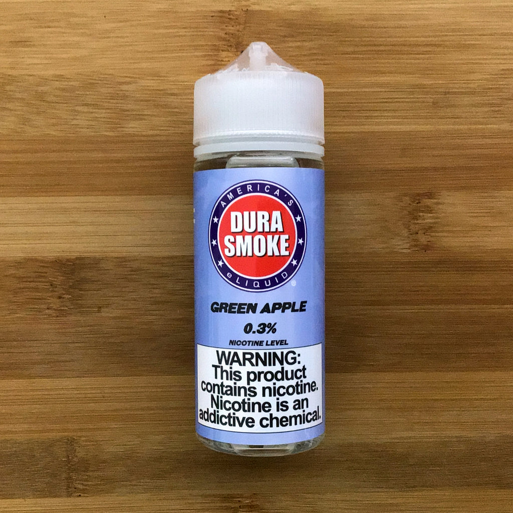 durasmoke green apple eliquid 120ml 3mg