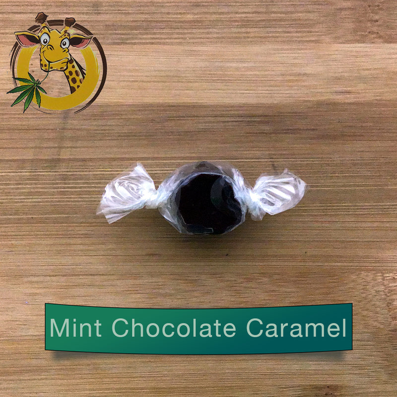 giraffe nuts cbd infused caramel 30mg mint chocolate