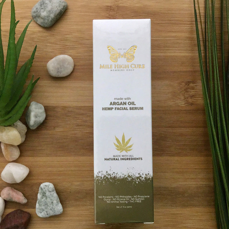 mile high cure hemp facial serum