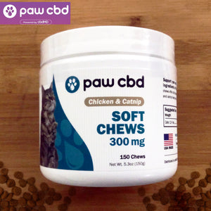 paw cbd soft chews chicken catnip 300mg