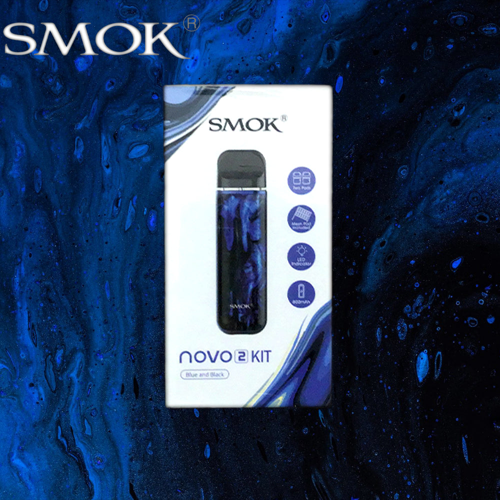 smok novo 2 kit blue and black resin