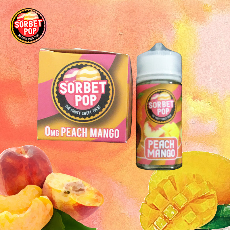 sorbet pop peach mango 0mg 100ml