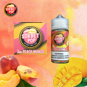 sorbet pop peach mango 3mg 100ml