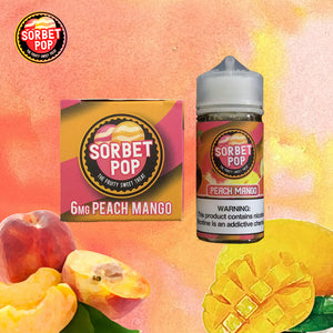 sorbet pop peach mango 6mg 100ml