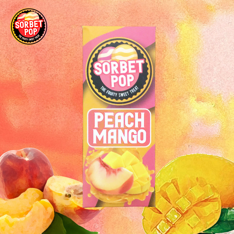 sorbet pop 100ml peach mango