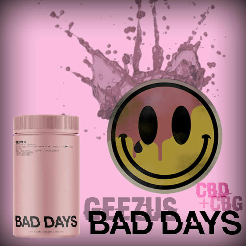 bad days geezus broad spectrum gummies by bad days