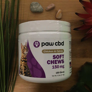 paw cbd chicken and catnip soft chews 150mg