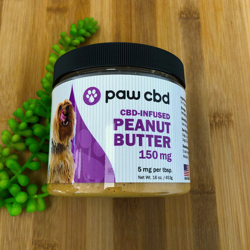 Paw dog peanut butter by cbdmd